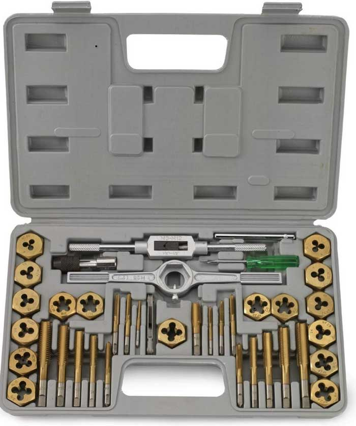 J&R Quality Tools 40-Piece Titanium Coated
