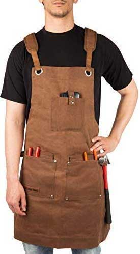 Waxed Canvas Heavy Duty Woodworking Apron by Texas Canvas Wares