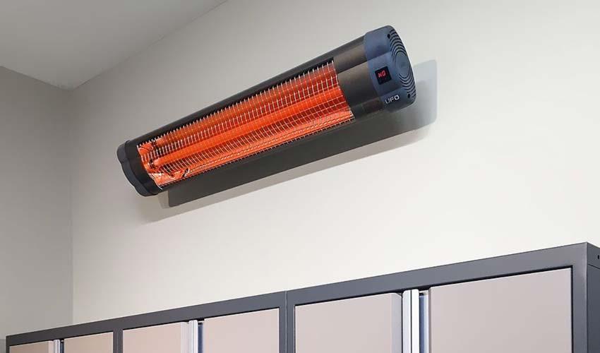 Wall mounted garage heater